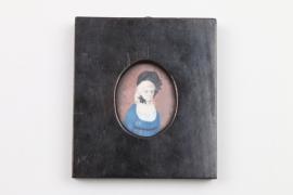 Miniatur Portrait der Karoline von Lichtenhayn, deutsch um 1800