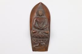 Kupferrelief mit Darstellung eines Buddha, Tibet, 19. Jh.