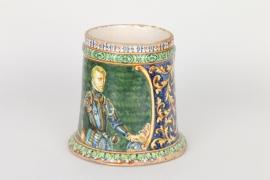 Handbemalter Majolika-Krug im Renaissancestil, Italien 19. Jh.