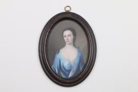 Portrait einer jungen Dame, England, 18. Jh.