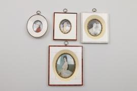 Vier Miniaturen, König Ludwig, Sissi, u.A., deutsch, 20. Jh.