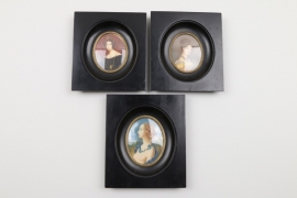 Drei Miniaturen, deutsch, 20. Jh.