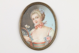 "Miniatur ""Junge Dame"", Frankreich, 19. Jh."