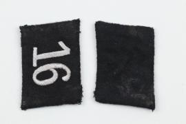 16.SS-Standarte collar tabs SS-Oberscharführer
