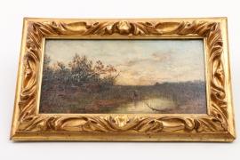 """""""Moorlandschaft mit Angler"""", Umkreis Adolf Stademann (1824-1895)"""