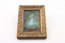 """Italienische Landschaft mit zwei Mädchen, signiert """"Charles"""", 2. Hälfte 19. Jh."""
