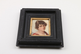 Portraitkopf eines jungen Mädchens, deutsch, 2. Hälfte 19. Jh.
