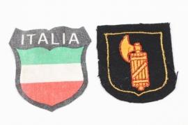 Waffen-SS Italian volunteer's sleeve badge