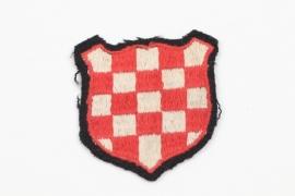 Waffen-SS Croatian volunteer's sleeve badge