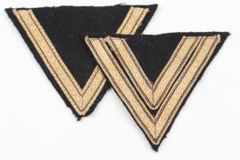 2x Waffen-SS tropical rank sleeve badges
