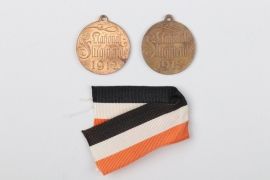 "Prussia - two 1912 ""National-Flugspende"" donation medals"