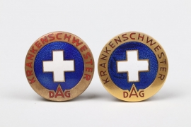 Germany - 2 DAG Krankenschwester service brooches
