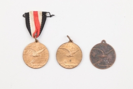 """Imperial Germany 3 + """"National Flight Donation"""" Commemorative Medal"""