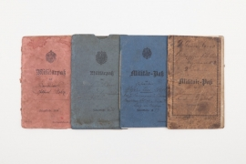 Imperial Germany - lot of four Militärpaß