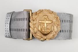Kriegsmarine officer's buckle & brocade belt