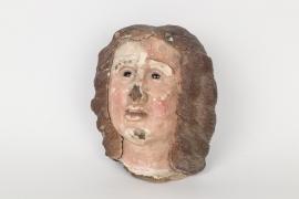 Kopf einer Heiligenfigur, Italien, 18. Jh.