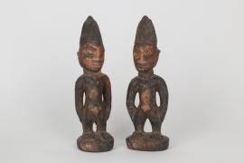 Zwillingsfiguren der Yoruba, Westafrika, vor 1950