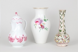 Drei Teile Porzellan, KPM, u.A.