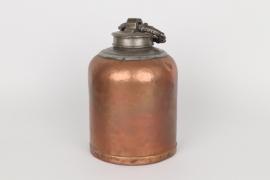 Barocke Schraubflasche aus Kupfer, süddeutsch, 18. Jh.