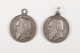 Bavaria - 2 Prinzregent Luitpold shooting medals