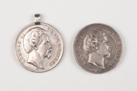Bavaria - 2 König Ludwig II. shooting medals