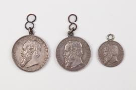 Bavaria - 3 Prinzregent Luitpold shooting medals