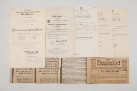 Bavaria - WW1 Observer's document grouping