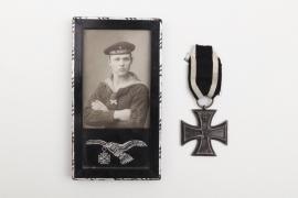 WW1 framed Marine-Flieger photo & Iron Cross