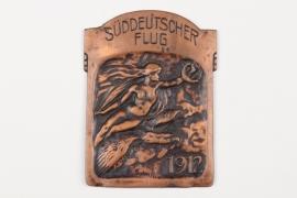 """Imperial Germany - 1912 """"Süddeutscher Flug"""" plaque"""
