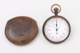 Stopwatch with leather bag