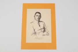 Max Immelmann lithograph print - O. Graf
