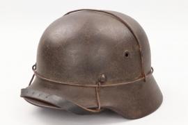Wehrmacht M40 helmet with wire