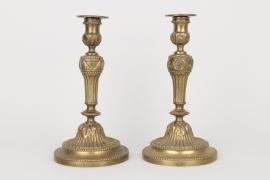 Ein Paar Empire-Kerzenleuchter, Frankreich um 1860
