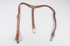 NSDAP brown Y-strap - RZM M5/289 & Assmann