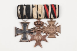 3-medal Iron Bar to WW1 veteran