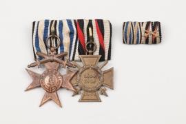 Bavarian 2-medal bar grouinpg to WW1 veteran