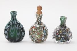 Drei Schnupftabakflaschen aus Glas, Bayrischer Wald, 19. Jh.