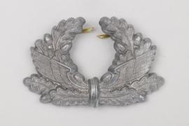 Bahnschutz visor cap wreath badge