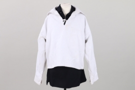 Kriegsmarine white & blue service shirts