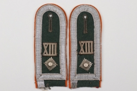 Heer Wehrkreis XIII shoulder boards - Feldwebel