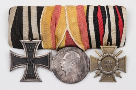 Third Reich - 3-medal bar to WWI veteran
