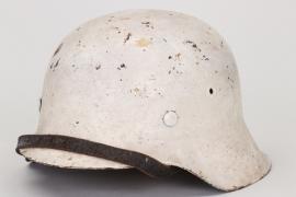 Wehrmacht M42 winter camo helmet - ET62