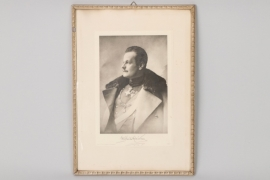 Fürst Albert von Thurn und Taxis framed photo