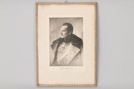 Fürst Albert von Thurn und Taxis framed photo
