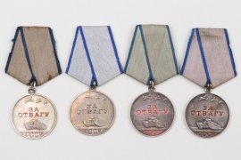 Soviet Union - lot of Medals for Bravery