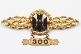 "Olt. Südel - 1957 Kampfflieger Squadron Clasp in gold with hanger ""300"""