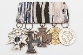 Bavaria - 5-place medal bar to WWI veteran