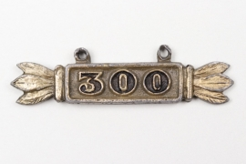 """""""300"""" hanger for Squadron Clasp in gold"""