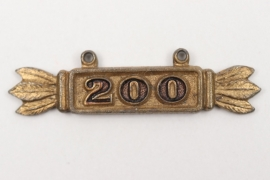 """""""200"""" hanger for Squadron Clasp in gold"""