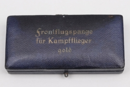 Case for Squadron Clasp for Kampfflieger in gold